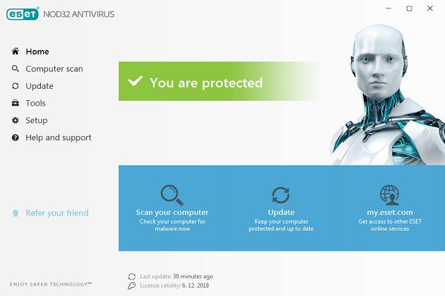 تنزيل برنامج مكافحة الفيروسات والتصدي للبرامج والهجمات الضارة والخبيثة ESET NOD32 AntiVirus