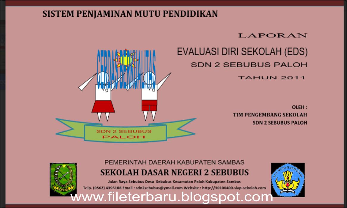 Download Contoh Evaluasi Diri Sekolah Eds Sekolah Dasar Sd