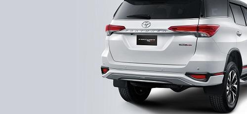 New TRD Rear Bumper Design and TRD Sportivo Emblem