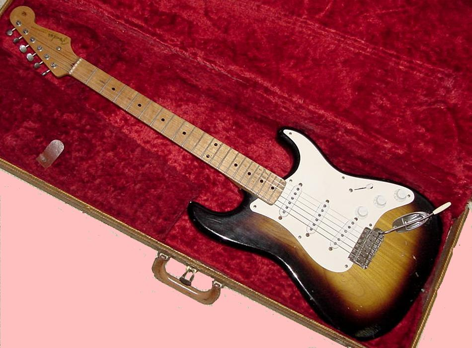 the unique guitar blog how you can transform a 1956 fender stratocaster into a hello kitty strat. Black Bedroom Furniture Sets. Home Design Ideas