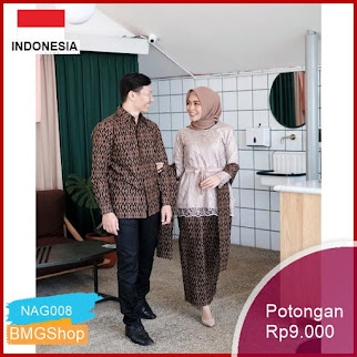 NAG008 Maura Couple Ruflle Batik Couple Murah Bmgshop