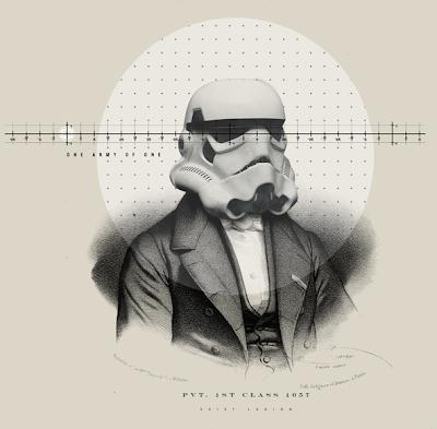 Personajes de Star Wars versión retro
