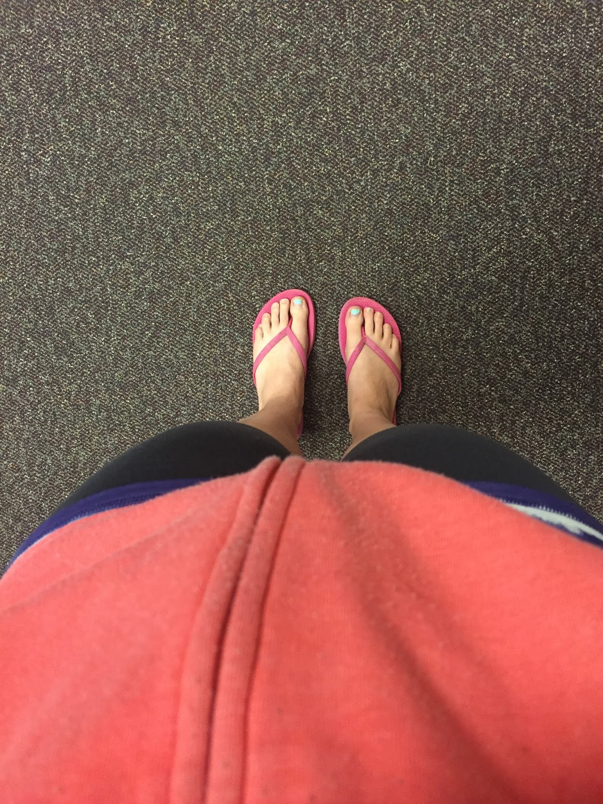 picture of my feet after a piyo workout. dopey challenge training