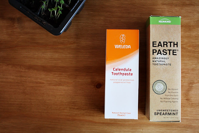 Weleda Calendula toothpaste and Earthpaste