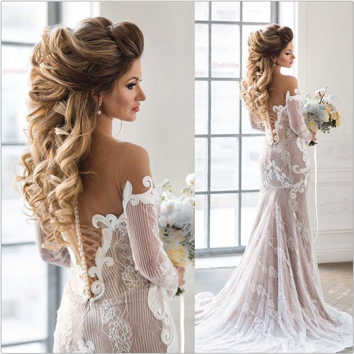5 Pretty And Unique Bridal Hairstyles For Long Hair