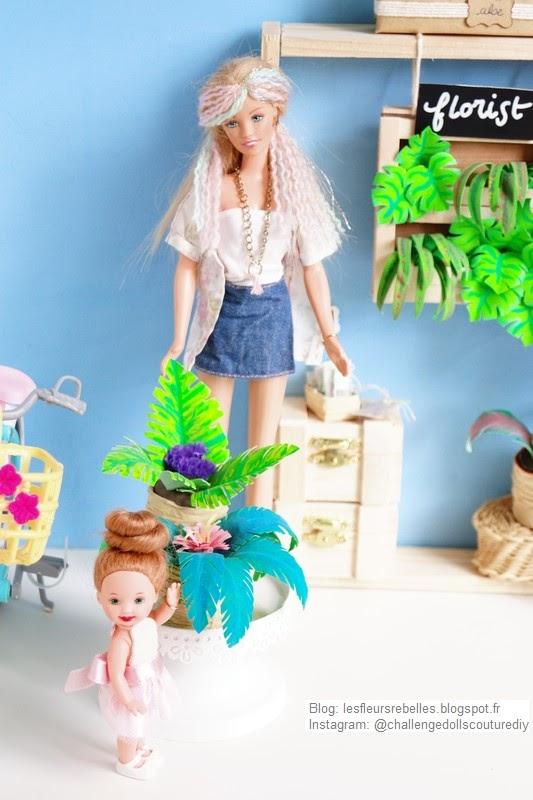 Elsa découvre les palmiers