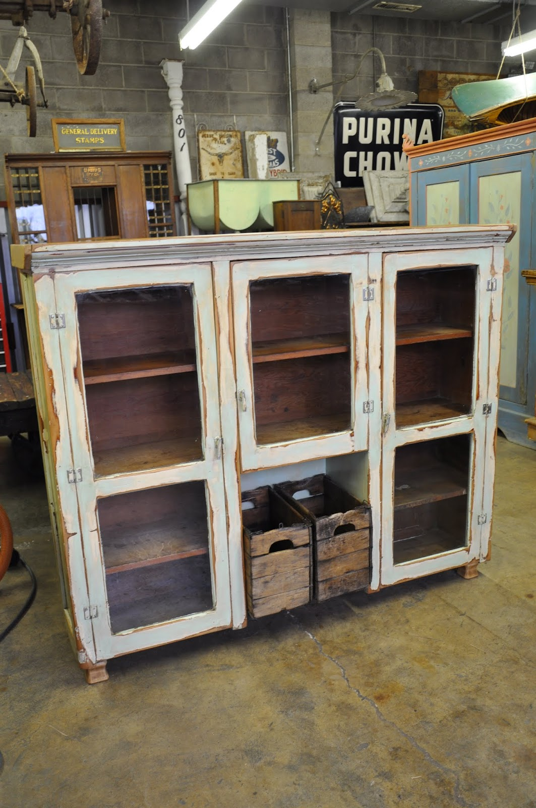 Oklahoma Barn Market Grocery Store Cabinet