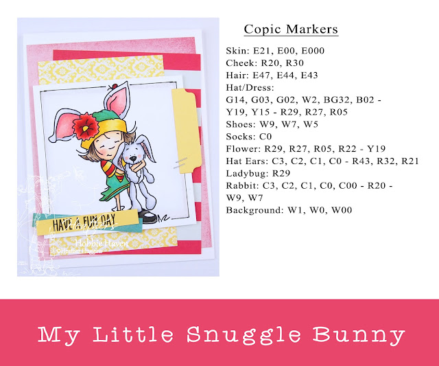 Heather's Hobbie Haven - Sassy Cheryl Stamps - My Little Snuggle Bunny