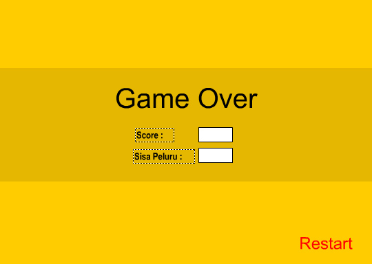 tampilan laman akhir permainan