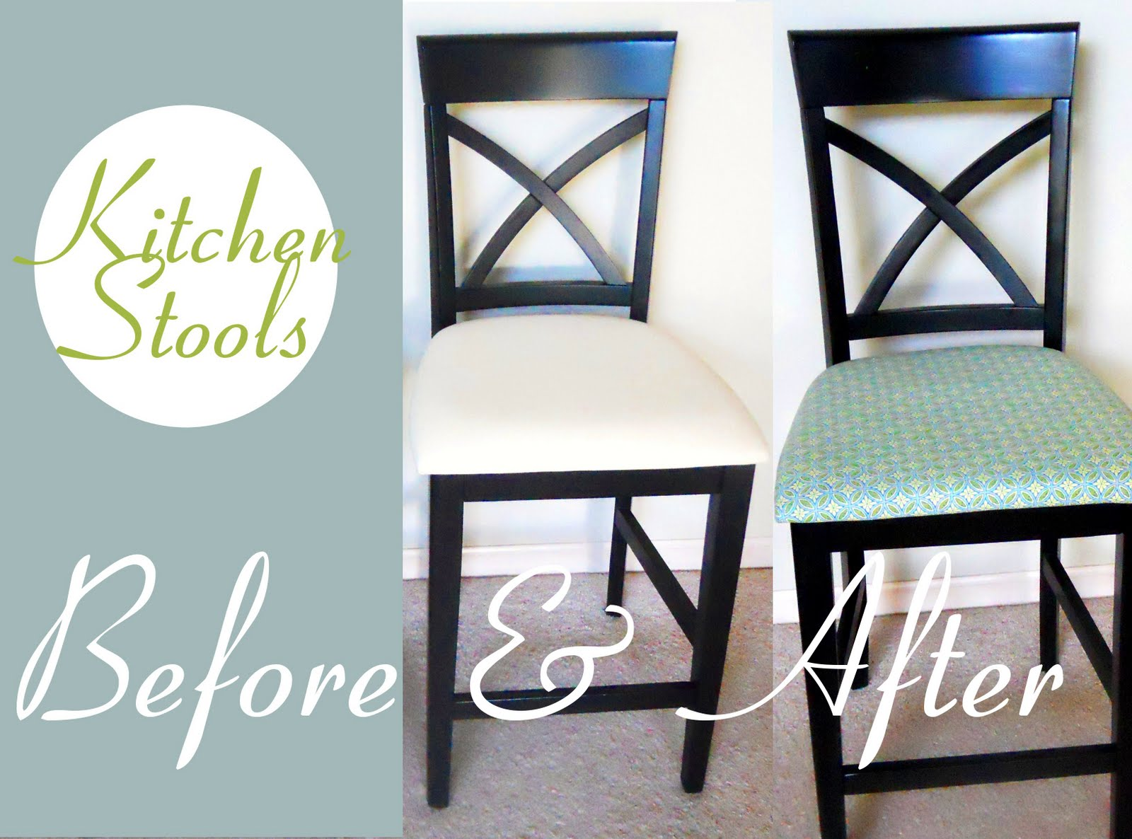 How to Reupholster Kitchen Chairs | Delightfully Noted