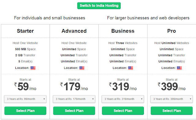 Bigrock WordPress hosting plans