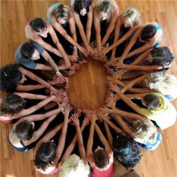 daisy chain yoga celebrating connection through service