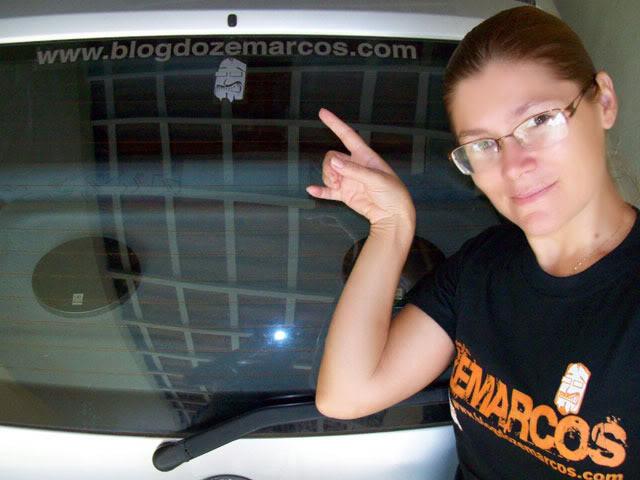 Adesivo para carro do Blog do Zemarcos