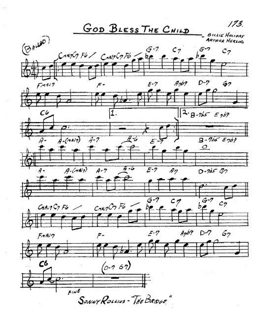 Partitura Saxofón Billie Holiday and Arthur Herzog