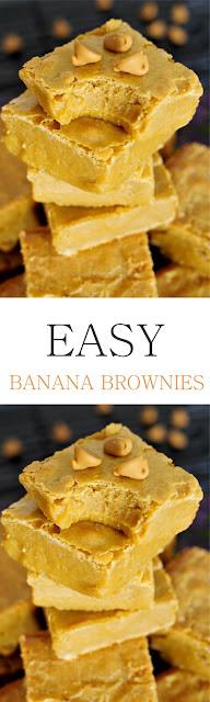 EASY BANANA BROWNIES