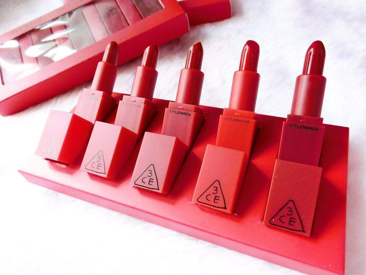 Kết quả hình ảnh cho Set Son 3CE Red Recipe Mini Lip Kit