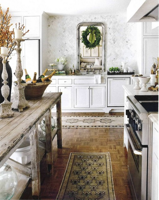 Ticking And Toile Christmas In The Kitchen