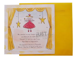 greek baptism invitations for baby girl little fairy theme