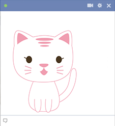Pink Cat Facebook Emoticon