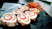 Three Pepper stuffed chicken roll food Recipe Dinner ideas