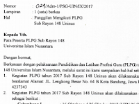 PENGUMUMAN PESERTA PLPG SERGUR 2017