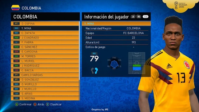 World Cup Graphic Menu PES 2017