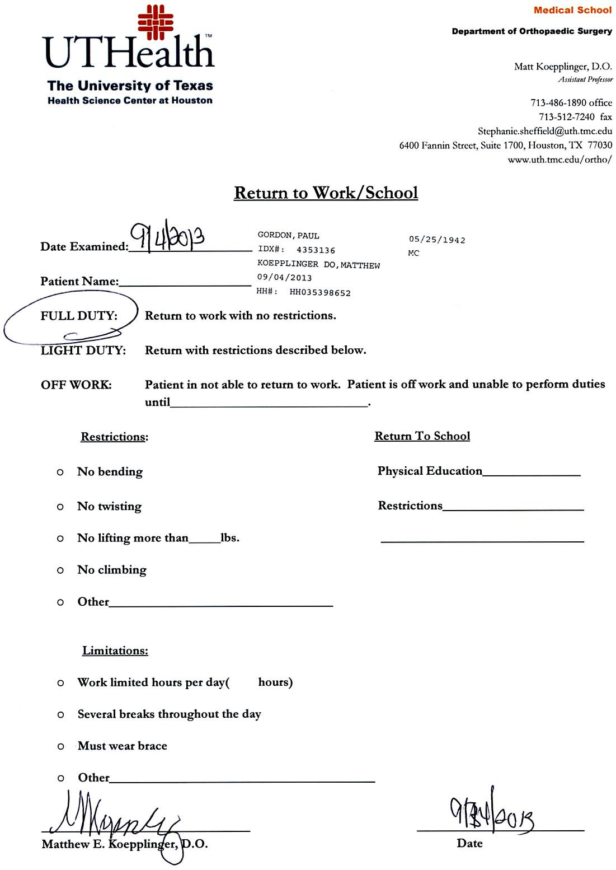 dentist note for missing work - Khafre