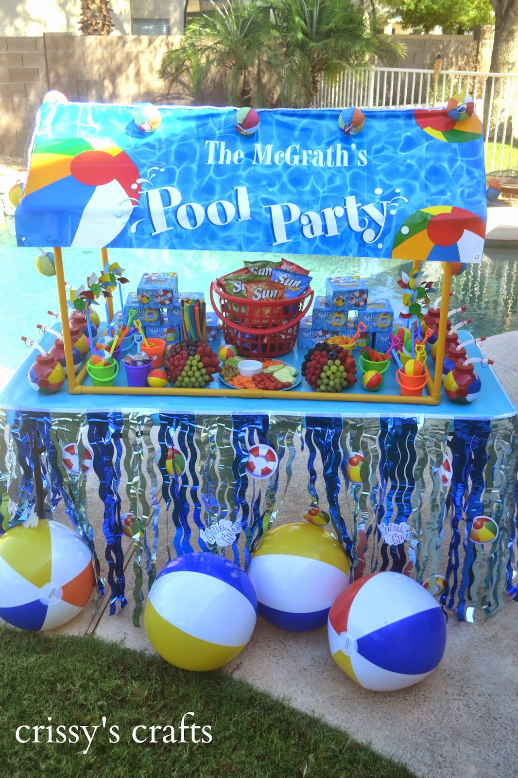 Party Piscina Crissy 39s Crafts Pool Party Summer 2014