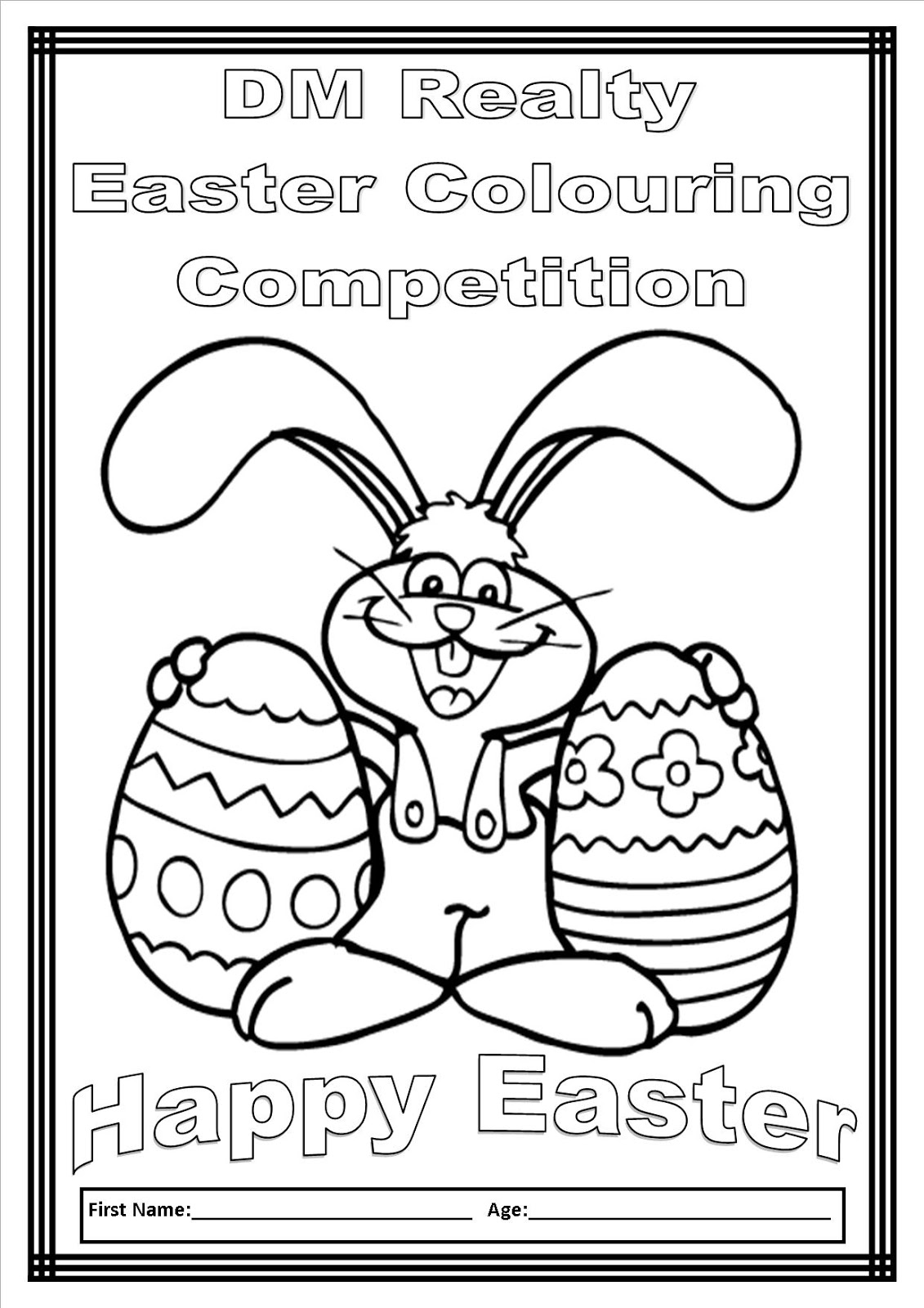 DM Realty: DM Realty Easter Colouring Competition 2013