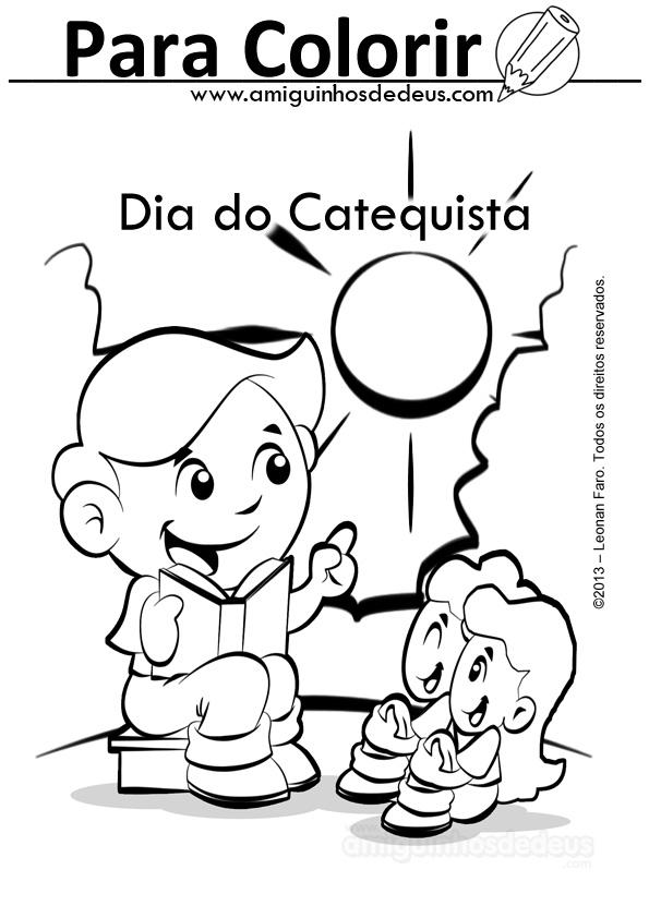 Dia Do Catequista Para Colorir Amiguinhos De Deus