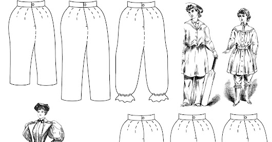 1850 – 1900 Bloomers Sewing Pattern