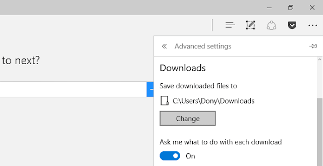 folder default microsoft edge