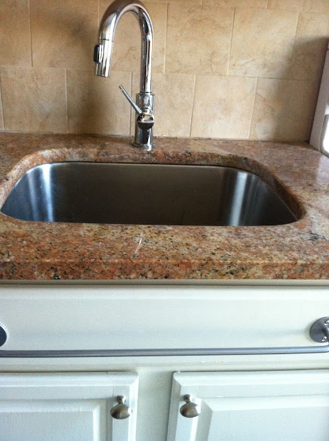 replacing kitchen sink false front with tip-out tray