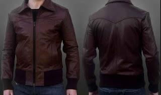 Desain model jaket kulit warna coklat kw domba asli kualitas super
