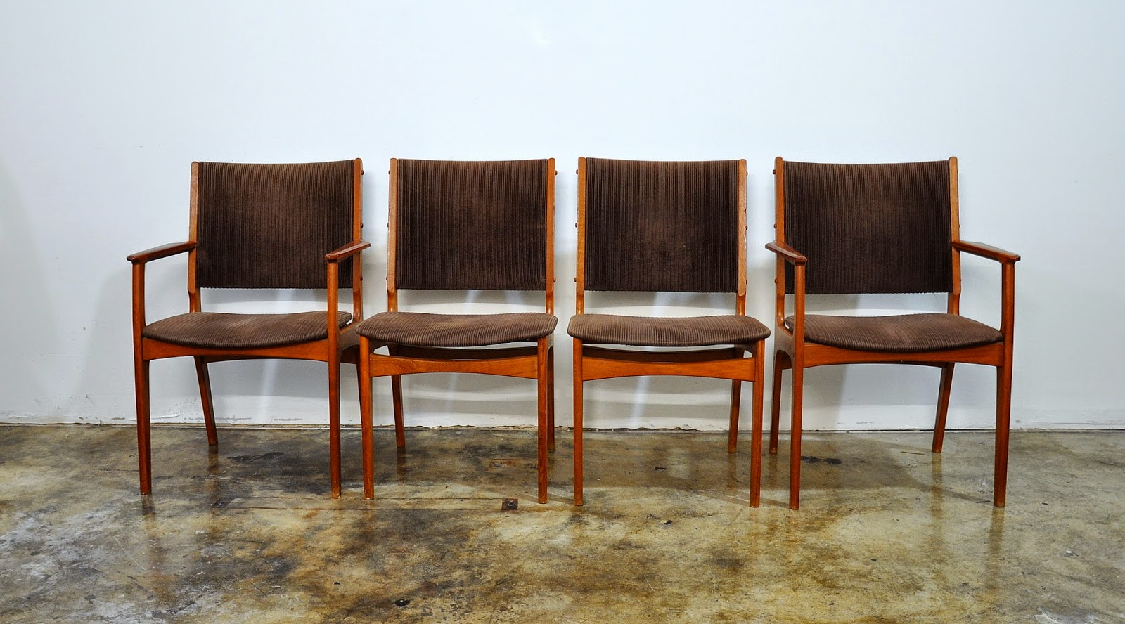 Danish Teak Dining Chairs Select Modern Set Of 4 Danish Modern Teak Dining Chairs