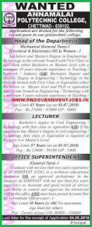 annamalai-polytechnic-college-chettinad-karaikudi-recruitment-hod-office-superintendent-posts-2018