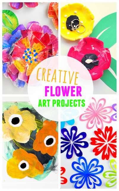 creative flower art projects:  gorgeous, creative, and affordable kids craft ideas!
