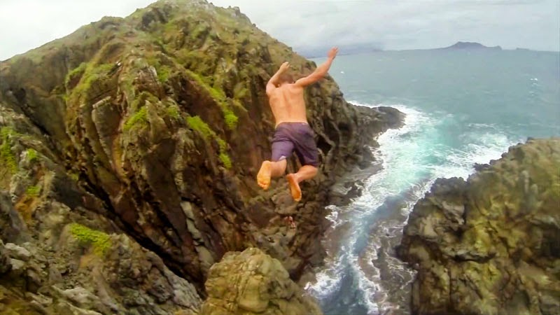 These Tropical Cliff Jumpers Have No Fear of Death… Completely Insane!