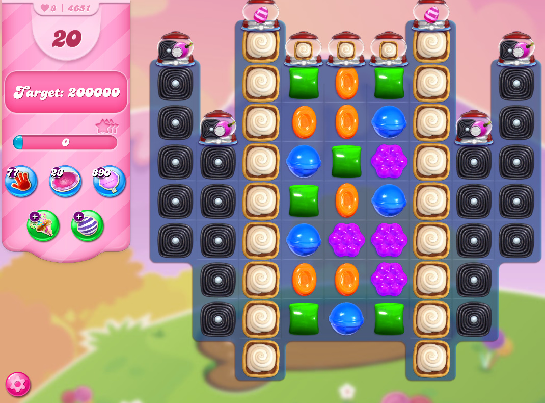 Candy Crush Saga level 4651