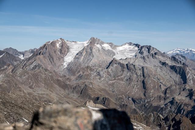 Aussicht Wilde Kreuzspitze Pfunderer Berge MTB