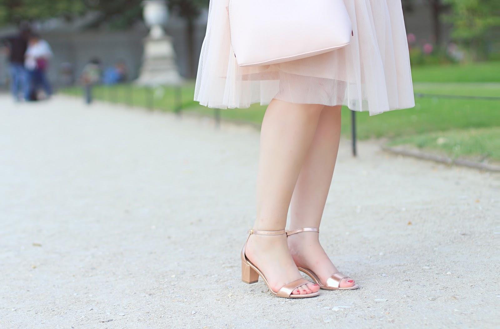 sandales rose métallisé
