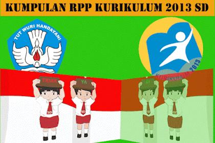 Contoh RPP Kurikulum 2013 Kelas 1,2,3,4,5,6 SD