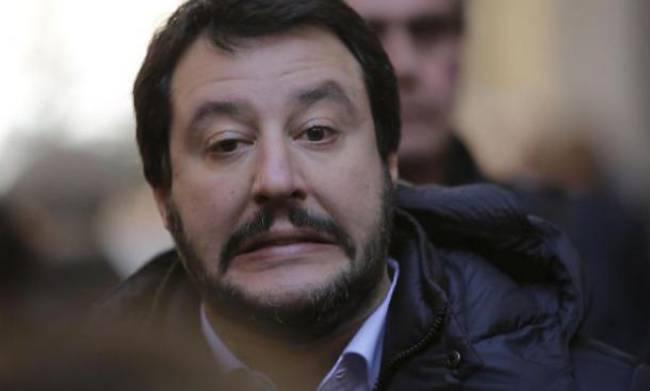 Matteo Salvini a Celano nonostante la neve