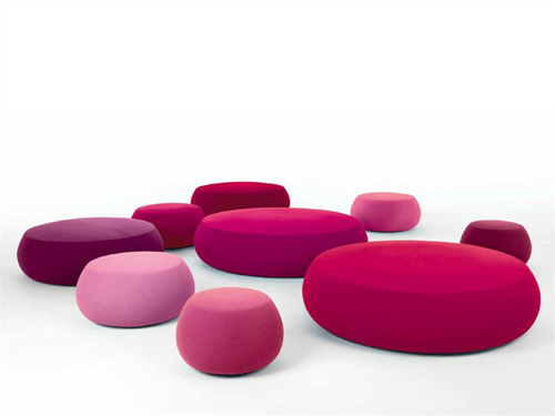 Wondrous Title Fabric Pouf Soft Round Ottoman Pix By Arper Home Cjindustries Chair Design For Home Cjindustriesco