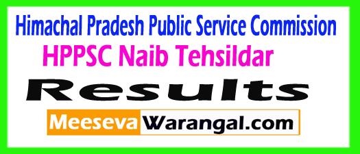 HPPSC Naib Tehsildar Result 2017