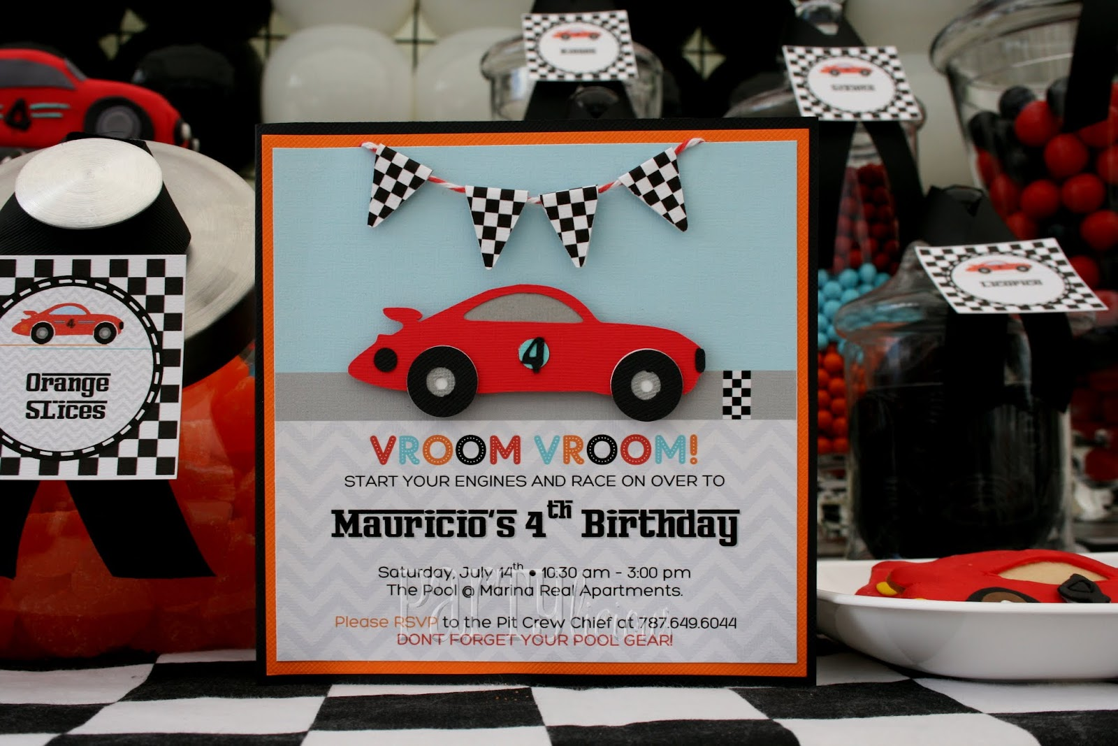 Race Car Birthday Party: Partylicious Events PR: {Mauricio's Race Car 4th Birthday}