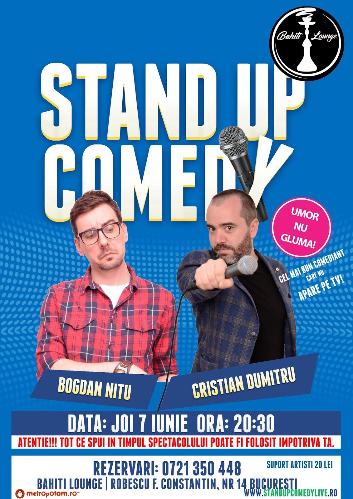 Stand-Up Comedy Bucuresti Joi 7 iunie