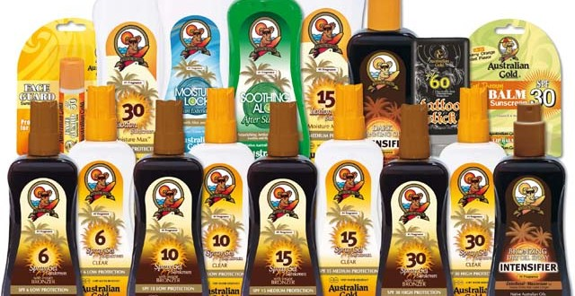 Linha de produtos Australian Gold - de lip balms a bronzeadores