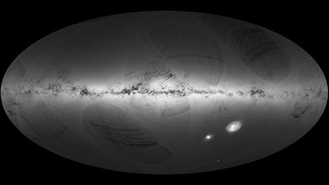 La Agencia Espacial Europea difunde un mapa con más de mil millones de estrellas de la Vía Láctea