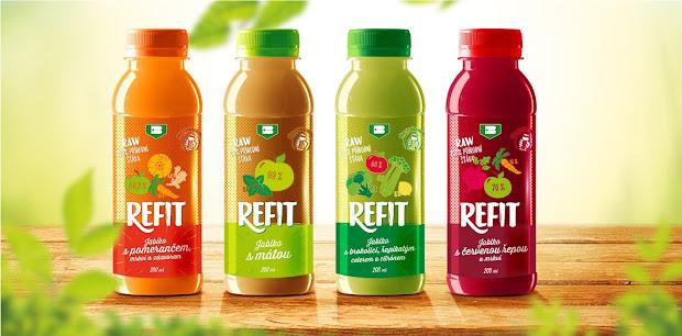refit - 100 raw juice packaging